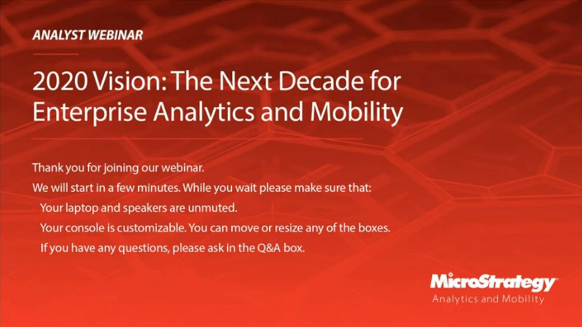 The Next Decade for Enterprise Analytics and Mobility
