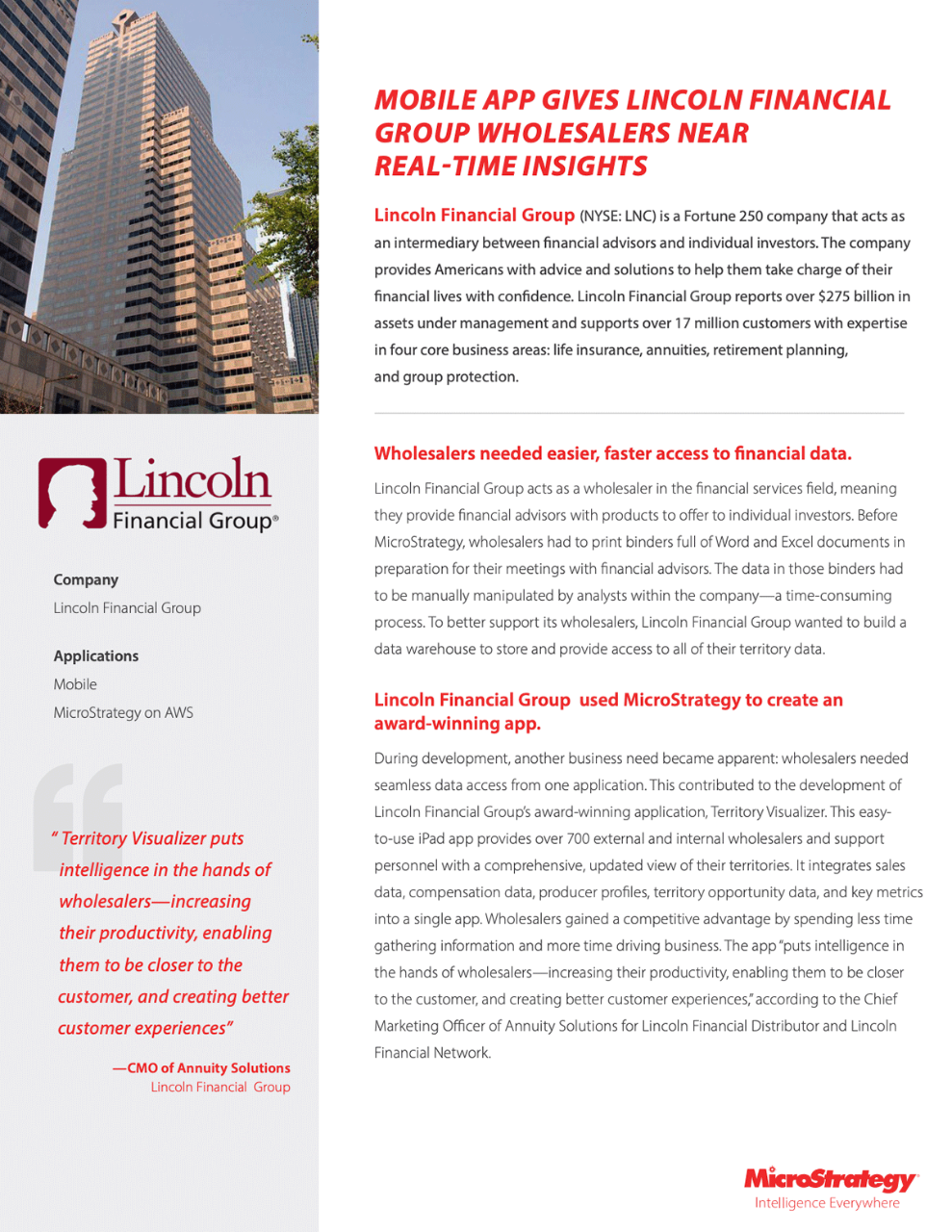 Lincoln Financial Group helps wholesalers with near real-time insights